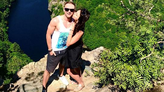 Jakub Štěpán s přítelkyní