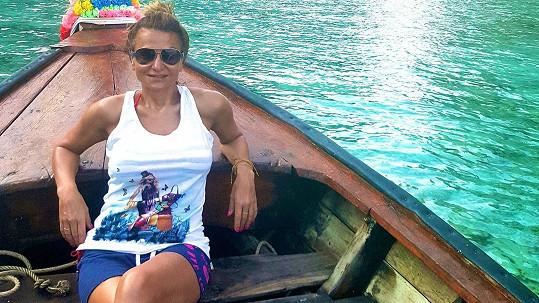 Yvetta Blanarovičová na dovolené v Thajsku