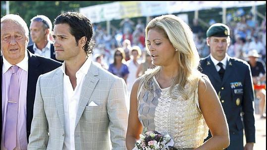 Švédský princ Philip s princeznou Madeleine.