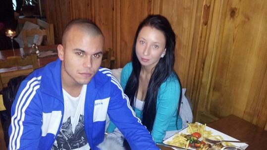 Leo Beránek s přítelkyní Lucií.