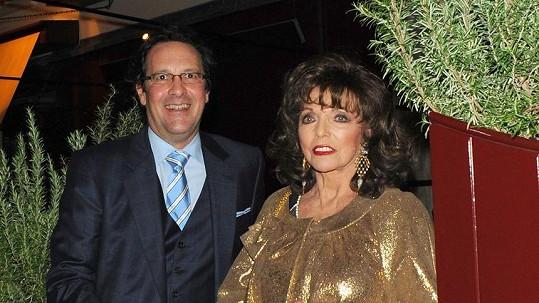 Joan Collins a její manžel Percy Gibson