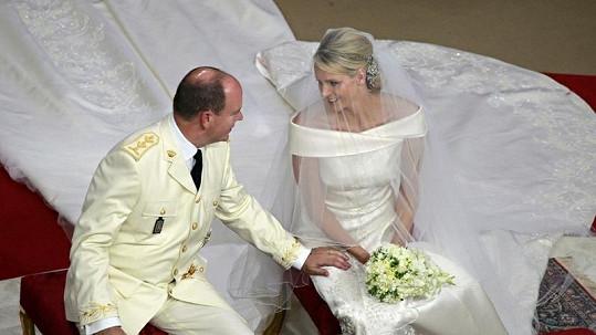 Princ Albert II. s manželkou Charlene Wittstock.