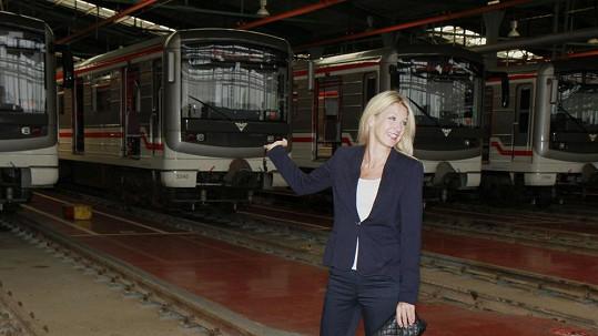 Sabina Laurinová v útrobách pražského metra
