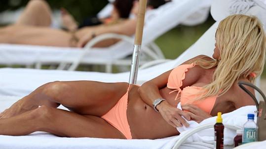 Victoria Silvstedt tráví konec roku na Miami Beach.