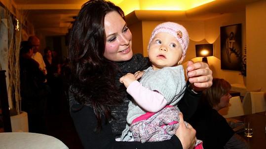 Jitka Čvančarová s dcerou.