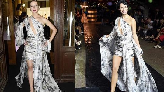 Návrhářka oblékla na párty model ze své přehlídky.