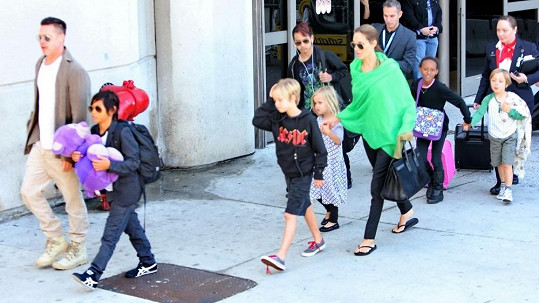 Brad s Angelinou a jejich kompletní potomstvo
