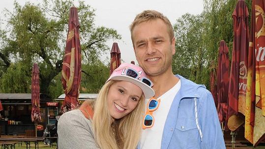 Míša Štoudková se svým prý bývalým přítelem Karlem