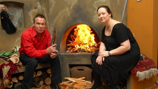 Jan Saudek s Pavlínou Hodkovou.