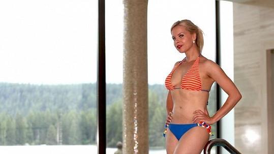Katka s nádhernou vyhlídkou na Tatry předvedla jiný spodek a jiný vršek plavek.