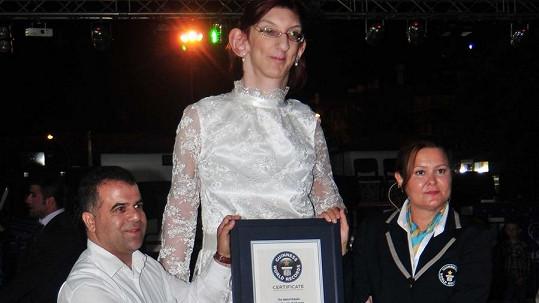 Rumeysa Gelgi se těší z rekordu. Splnil se jí prý velký sen.