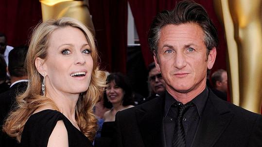 Exmanželé Robin Wright a Sean Penn