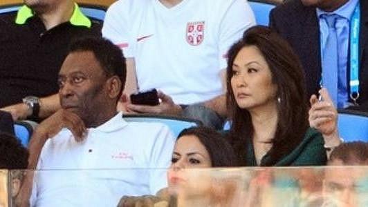 Pelé a jeho nastávající manželka
