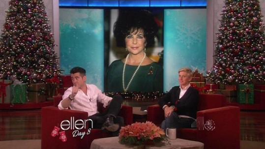 Colin prozradil v show Ellen DeGeneres nečekané věci...