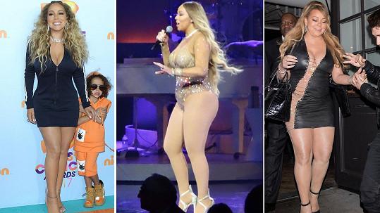 Mariah Carey opět přibrala.