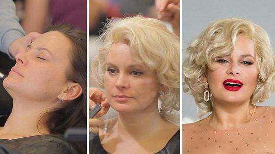 Jitka Čvančarová se proměnila v Marilyn Monroe