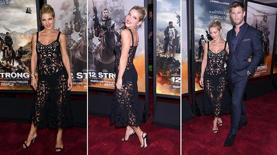 Herečka Elsa Pataky se stala ozdobou newyorské premiéry filmu 12 Strong.