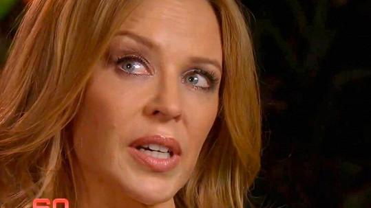 Kylie Minogue se rozplakala.