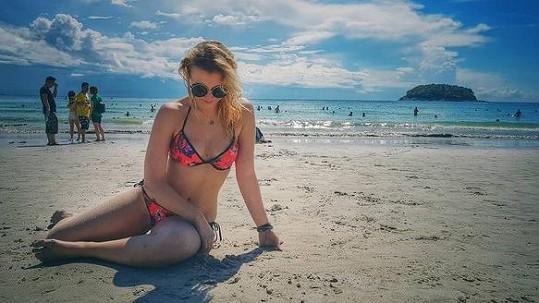 Anna Slováčková na dovolené v Thajsku