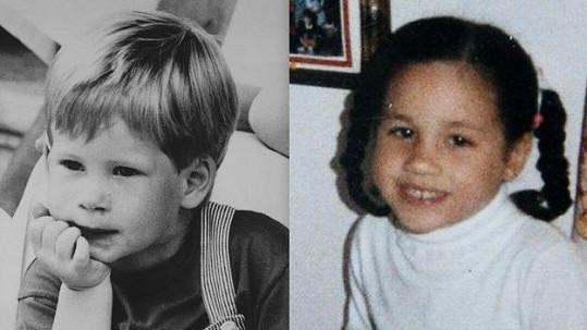 Harry a Meghan byli roztomilými dětmi.