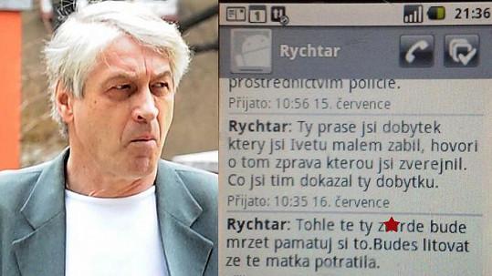 Josef Rychtář posílá Macurovi drsné zprávy.