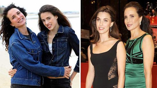 Andie má dvě krásné dcery.