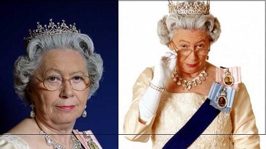 Poznáváte dámu na fotce? Je a není to anglická královna Alžběta.