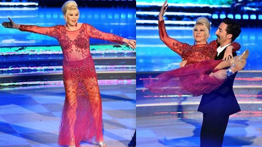 Ivana Trump v taneční show Ballando con le Stelle