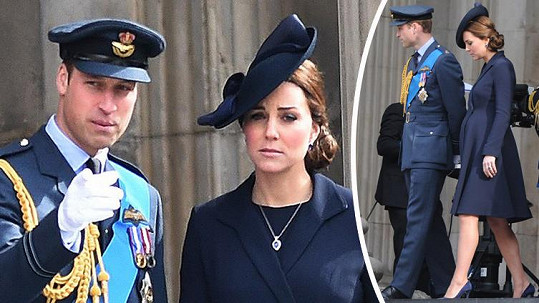 Kate a William se sladili do modra.