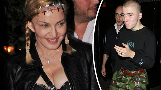 Madonna zašla s Roccem na večeři.