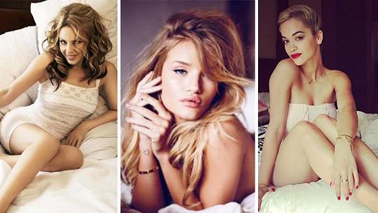 Slavné ženy rády provokují v ložnici.