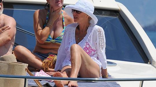 Helen Mirren na dovolené na ostrově Ischia