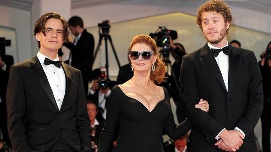 Susan Sarandon vzala do Benátek své syny.