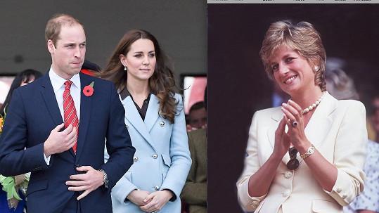 William a Kate pojmenují dceru po Dianě i přes protesty příbuzných.