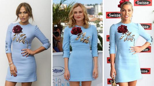 Která kráska v modrých šatech zazářila nejvíce?
