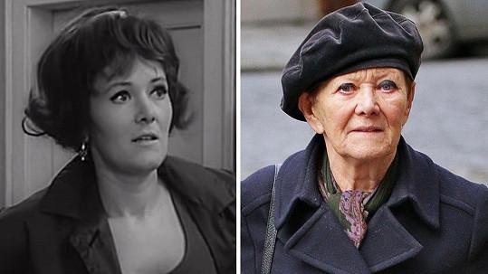 Tak šel čas se Zdenou Hadrbolcovou. Tyhle dvě fotky dělí 49 let.