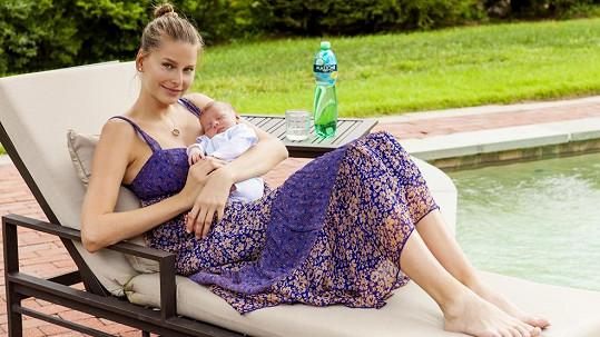 Hana Soukupová se pochlubila synem Finnem.