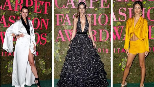 Slavné modelky předvedly své přednosti v Miláně.