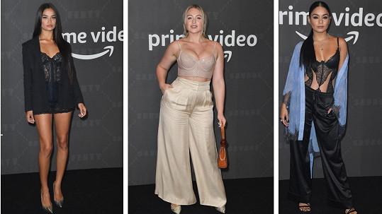 Na přehlídku Savage X Fenty dorazily slavné dámy ve spodním prádle.