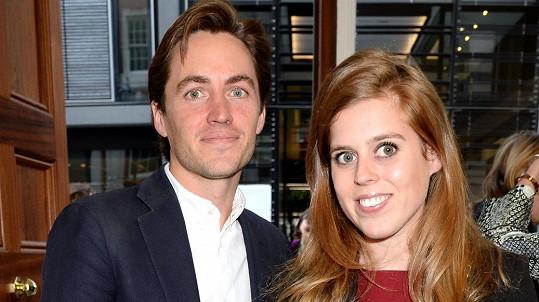 Princezna Beatrice se provdala za podnikatele Edoarda Mapelliho Mozziho