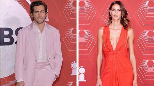 Jake Gyllenhaal a Jeanne Cadieu na udílení cen Tony