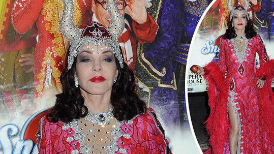 Priscilla Presley v kostýmu zlé královny