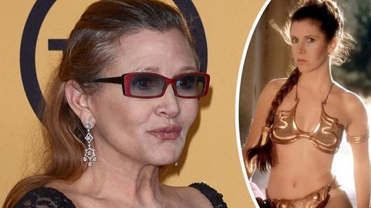 Carrie Fisher se na konci roku vrátí ke své slavné roli.