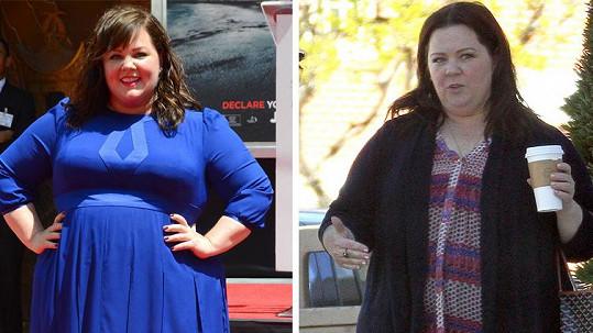 Poznáte, na které fotce je Melissa o 20 kilogramů lehčí?