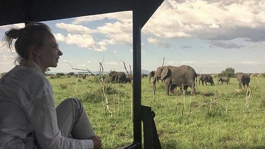 Jana Plodková vyrazila na dovolenou na safari.
