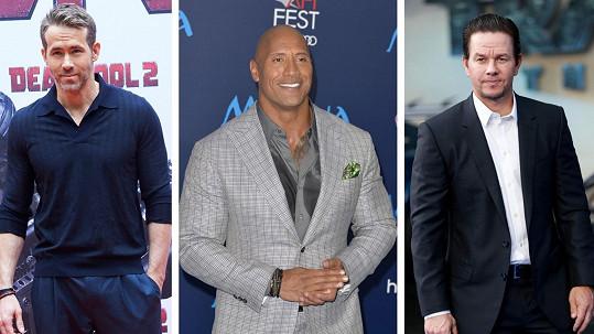 Toto jsou tři nejlépe placení herci světa pro letošní rok.