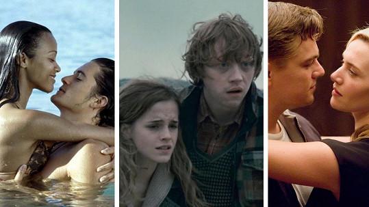 Tito herci si společné líbací scény příliš neužili.