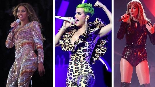 Slavné zpěvačky si přišly letos na pořádný balík.