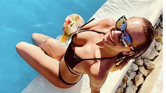 Bára Mottlová si užívá slunce na Bali.