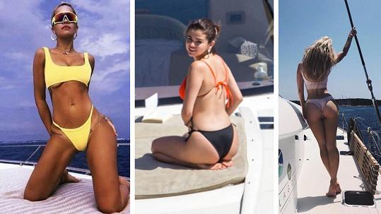 Tyto celebrity si odpočinek na jachtě velmi oblíbily.